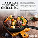 Pre-Seasoned Cast Iron Skillet 2-Piece Set