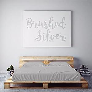 PeachSkinSheets Night Sweats: The Original Moisture Wicking, 1500tc Soft Queen Sheet Set Brushed Silver