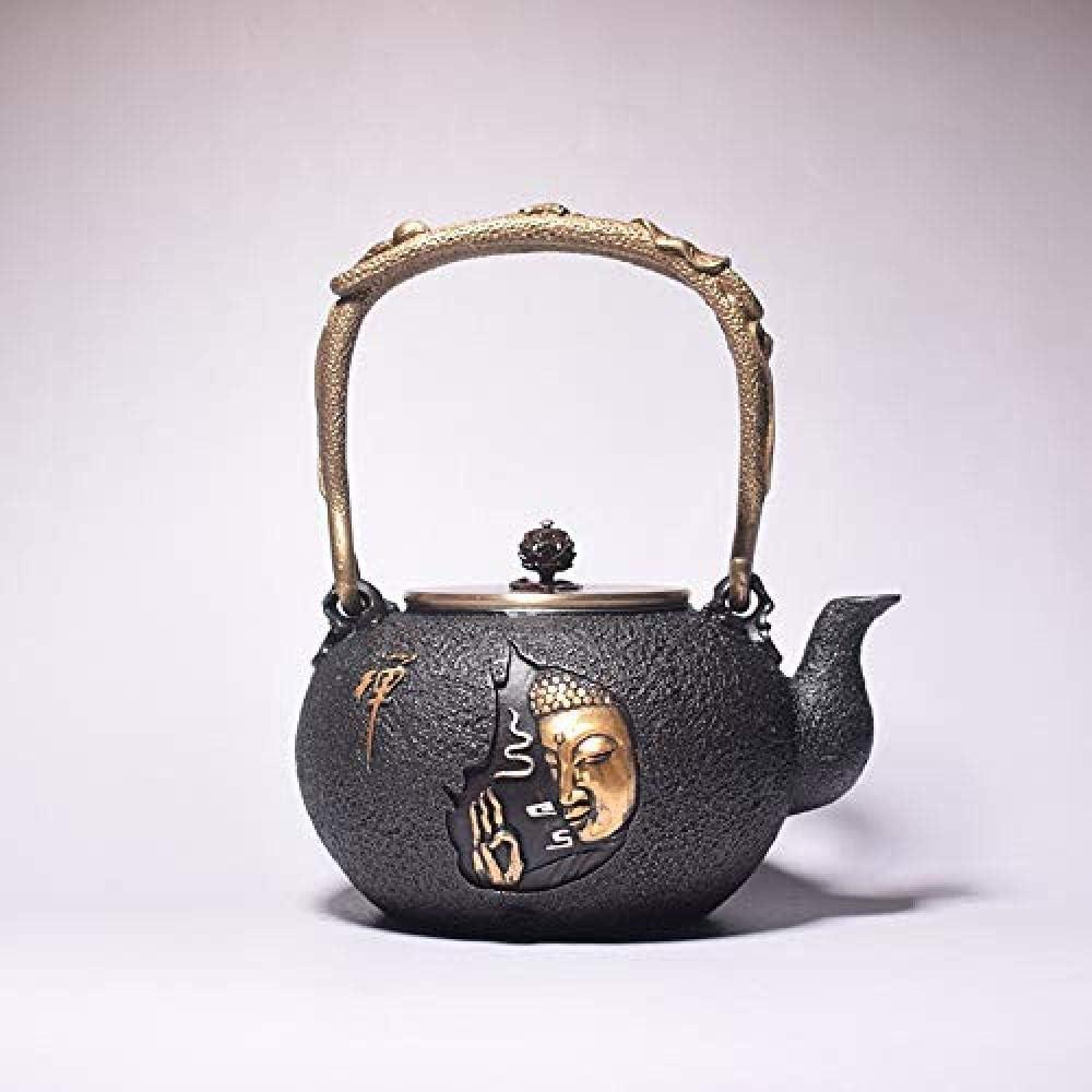 ティーポット 大容量 示され-As_Shownとしてお茶セット鋳鉄アイアンクラフトギフトアイアンポットマニュアル鋳鉄鍋レトロ煮茶プロセスを 高級感 おしゃれ 最高の贈り物 クリスマスプレゼント