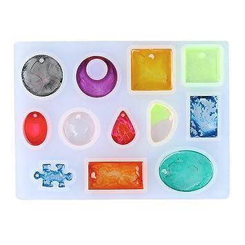 Kit de moldes de resina para hacer collar, colgante, la gota de agua,