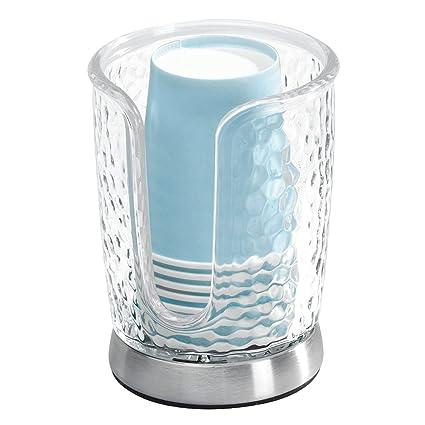 InterDesign - Rain - Dosificador de Vasos - Claro