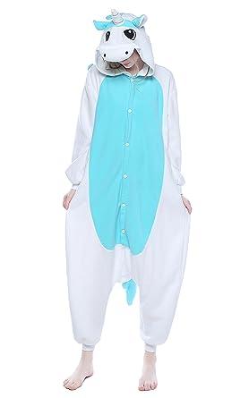 1cea53753e Amazon.com  Newcosplay Adult Anime Unisex Unicorn Pyjamas Halloween Onesie  Costume  Clothing