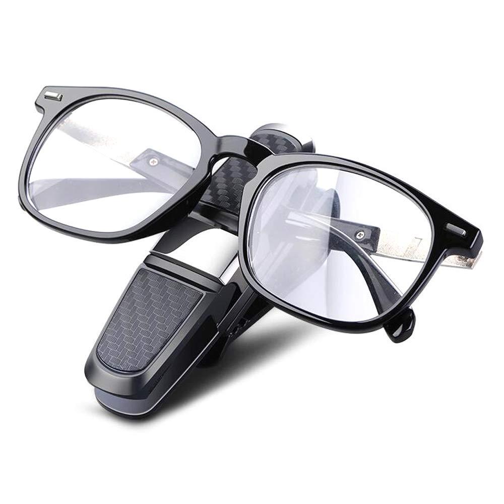 Fresh66 Brillenhalter f/ür Auto Sonnenblende,180/°-Drehung Sonnenbrille Brillenhalterung mit Ticket Card Clip