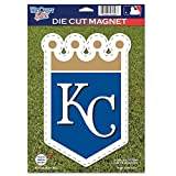 MLB Kansas City Royals 82762012 Die Cut Logo Magnet, Small, Black