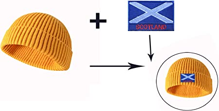 SCOTLAND SET OF THREE NATIONAL FLAG SEW IRON ON PATCHES: