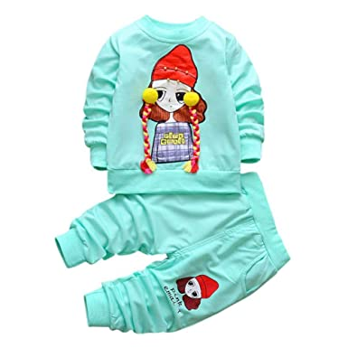 URMAGIC Baby Boy Clothes Newborn Baby Infant Cartoon Long Sleeve Hoodie Sweatshirts Bodysuit+Pants Outfits Autumn Winter Clothes Sets