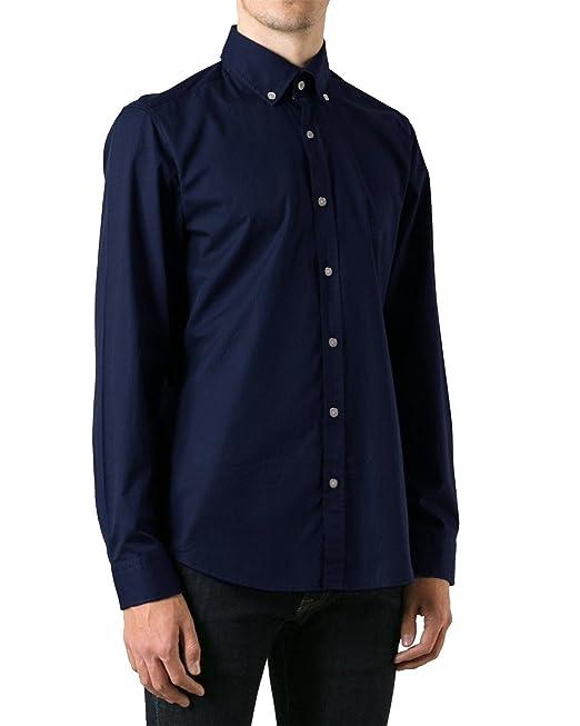 BOSS Hugo Camisa Casual - Básico - con Botones - para Hombre Azul Claro XL