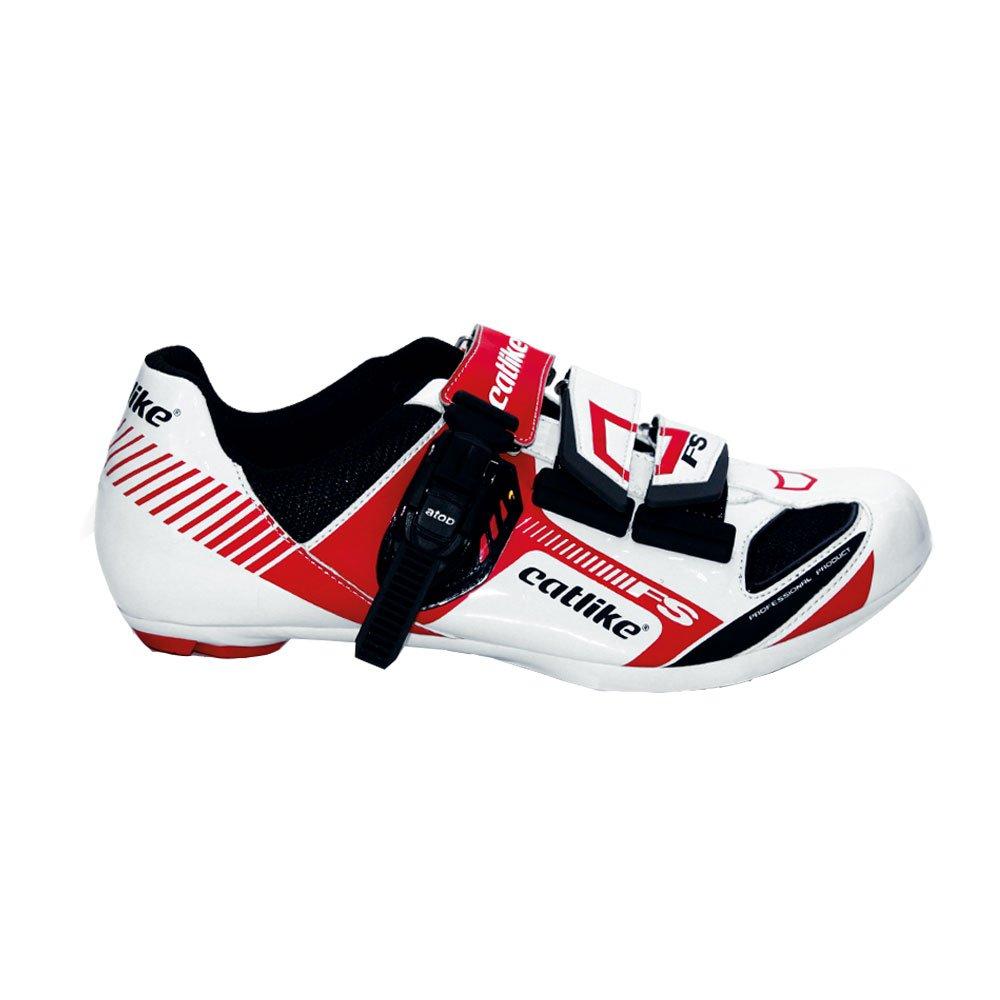 Catlike Felinus Road - Zapatillas de ciclismo unisex, color blanco/rojo, talla 47: Amazon.es: Zapatos y complementos