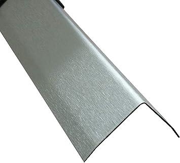 3fach Winkelblech Winkelprofil Edelstahl 3-fach gekantet K240,1,5mm stark Kantenschutz Wand Kantenschutzprofil 2 Meter Edelstahl Winkel