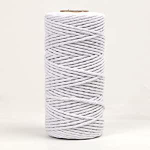 NewTrend 328 Feet Cotton Twine for DIY Craft, Packing, Decoration and Gardening,3Ply Durable String and Eco-Friendly(White)