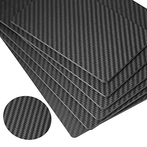RJX 500X400X8.0MM 100% 3K Full Carbon Fiber Plate Sheet 8.0mm Thickness (Twill, Matte surface) by RJXHOBBY