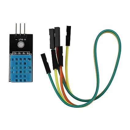 WOSOSYEYO Pruebas de componentes Temperatura DHT11 Digital del módulo del Sensor de Humedad Equipo humidificador resistiva