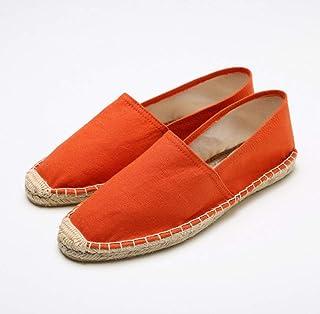 YOPAIYA Espadrilles Plat Loafers Chaussures De Loisirs pour Femmes Plates Et Plates en Lin Et Lin, Respirantes, en Lin Et Coton