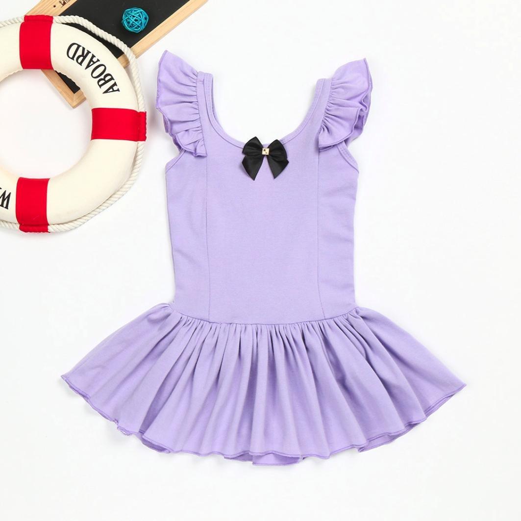 a7f5daa38 Goodlock Toddler Kids Fashion Dress Girls Ballet Dress Ruched ...