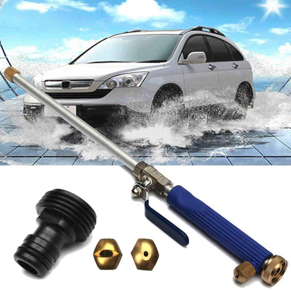 Magic High Pressure Wand - Improved Power Washer Water Hose Nozzle, Hydro Water Jet, Garden Hose Sprayer for Car Wash and Window Washing, 2 Tips Accessories