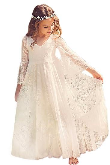 2642d027b2a07 Babyonlinedress Elégant Robe de Fille Enfant de Mariage d Honneur ...