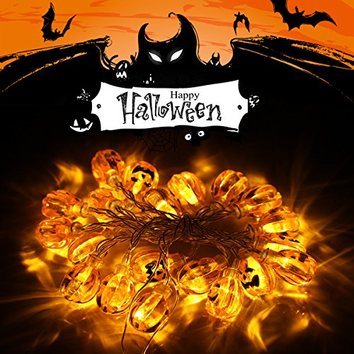 Aekce Halloween Decorations String Lights,7.2ft 20 LED for Party,Indoor Outdoor,Room, Patio, Garden, Gate