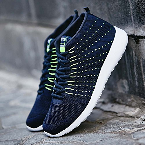 FLARUT Männer Frauen Unisex Casual Sneakers Atmungsaktive High Top Outdoor Sports Laufschuhe Blau