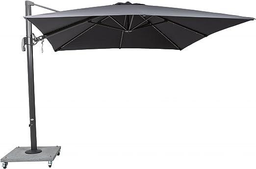 Palermo Cantilever – Parasol 3 x 3 m Cuadrado ratón gris: Amazon.es: Jardín