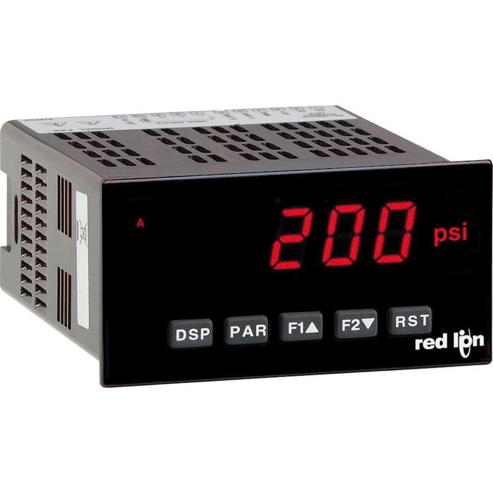 Red Lion PAXDP 1/8 DIN Dual Process Input Meter, 5 Digit LED Display, 85 to 250 VAC, 50/60 Hz