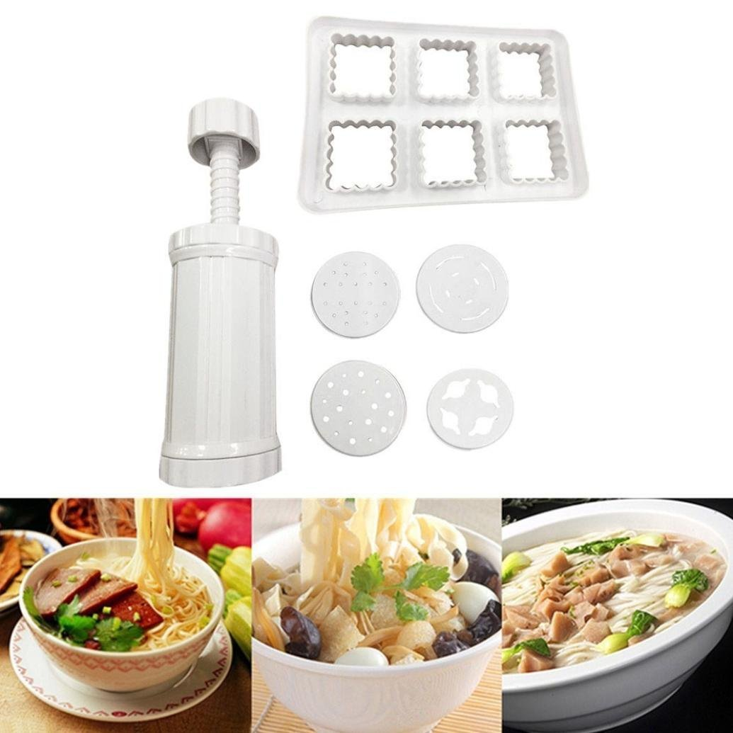 Tpingfe DIY Noodles Maker, Slicer Cutter Manual Noodle Machine Kitchen Pasta Tool Juicer (B)
