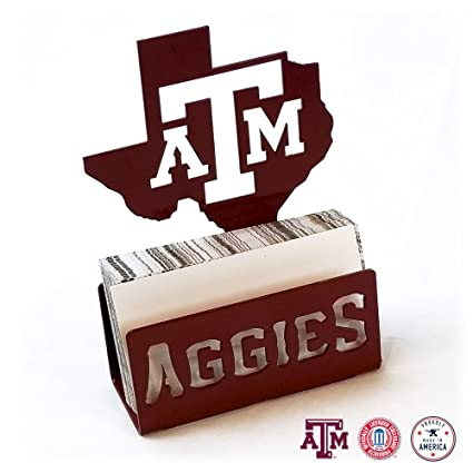 b5d1490cebaeb Image Unavailable. Image not available for. Color  Gameday Ironworks Texas  A M Aggies Steel Business Card Holder