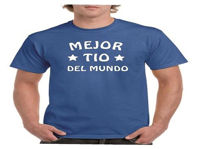 Camisetas divertidas Child Mejor tio del Mundo - para Hombre Camisetas Talla Small Color Azul Royal