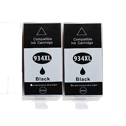 caidi 2 x Negro Repuesto para Comp COMPATIBLES HP 934 X L 935 X L ...