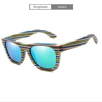 ANLW Gafas De Sol De Madera, Gafas De Sol Polarizadas Vintage Gafas Para Hombres Y