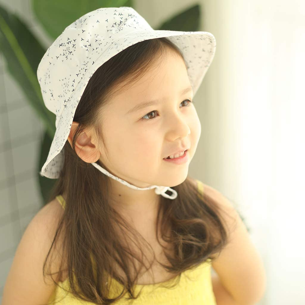 Sombrero de Sol para Beb/é Ni/ña Ni/ño Infantil Ni/ños Peque/ños Unisexo Ajustable Sombrero Bob Protecci/ón Solar UPF 50
