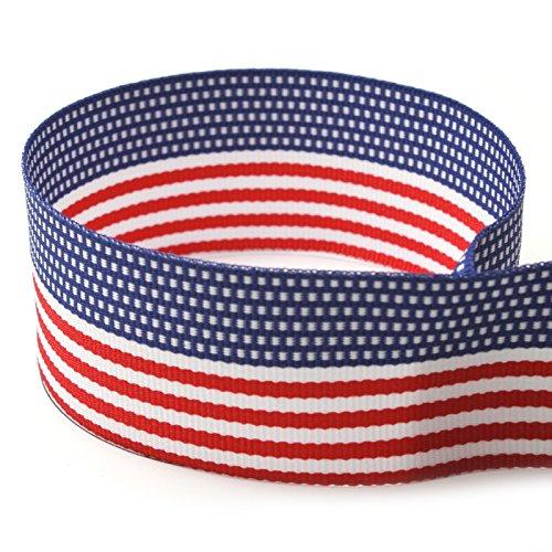American Flag Striped Grosgrain Ribbon
