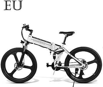 Adolenb E-Bike - Bicicleta eléctrica plegable de 26 pulgadas (48 V ...