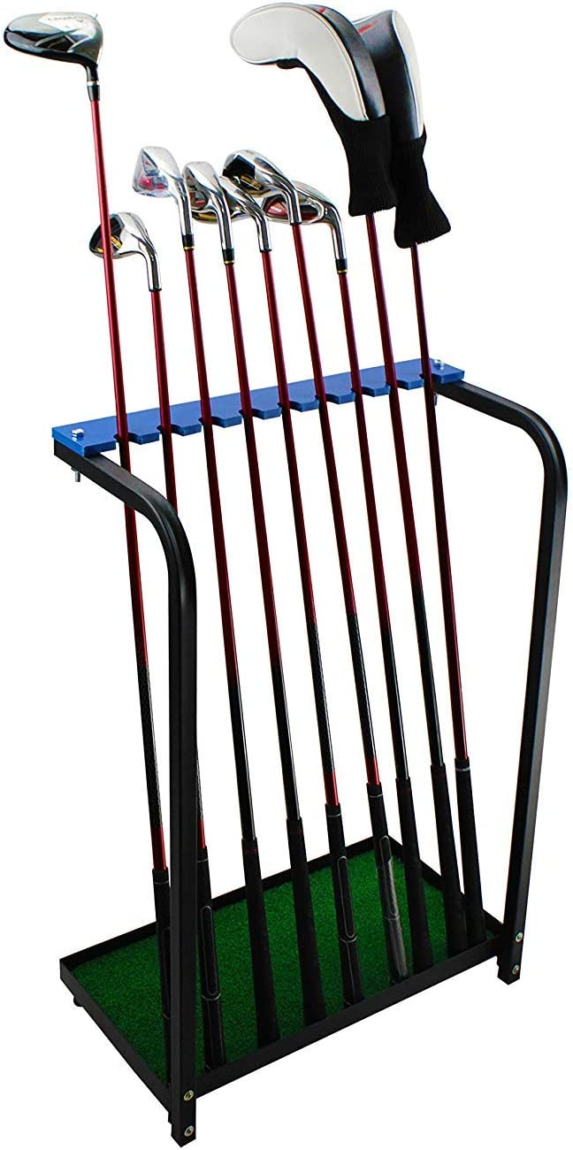 Crestgolf Acrylic Golf Club Organizers Golf Club Display Golf Putter Rack (9pcs-Design or 18pcs-Design for You to Choose)