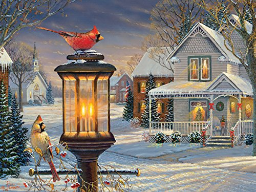 White Mountain Puzzles Cardinals In Winter - 1000 Piece Jigsaw Puzzle