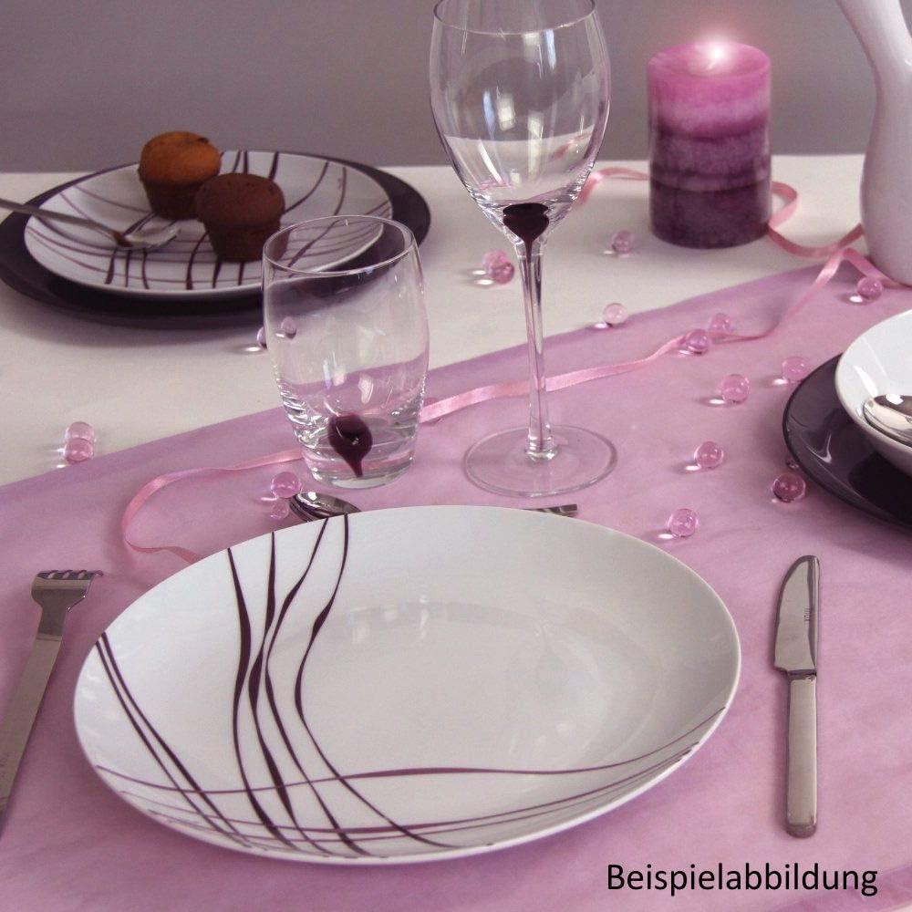 Topkapi Service de Table en Porcelaine 12 pi/èces Rihanna avec 6 Assiettes /à Dessert et 6 Assiettes /à Dessert