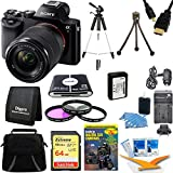 Sony Alpha 7K a7K Digital Camera 64GB SDXC Card, Battery, and Tripod Bundle - Includes camera, 64GB SDXC Memory Card, 59'' Tripod, NP-FW50 Camera Battery, Carrying Case, 55mm Filter Kit and more.