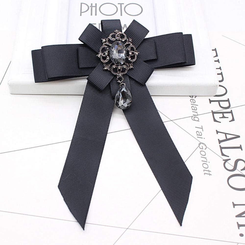 ZWLZQ Broches broche Alfileres De Cuello De Cinta Negra ...