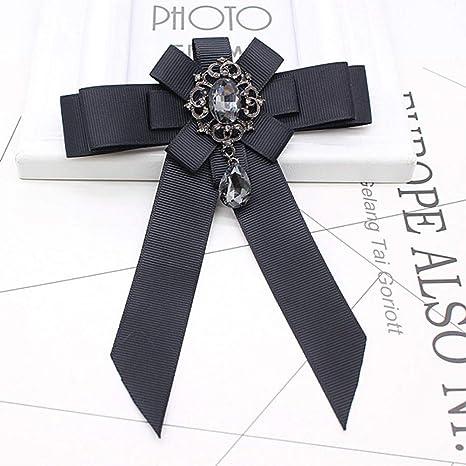 ZWLZQ Broches broche Alfileres De Cuello De Cinta Negra Camisa De ...