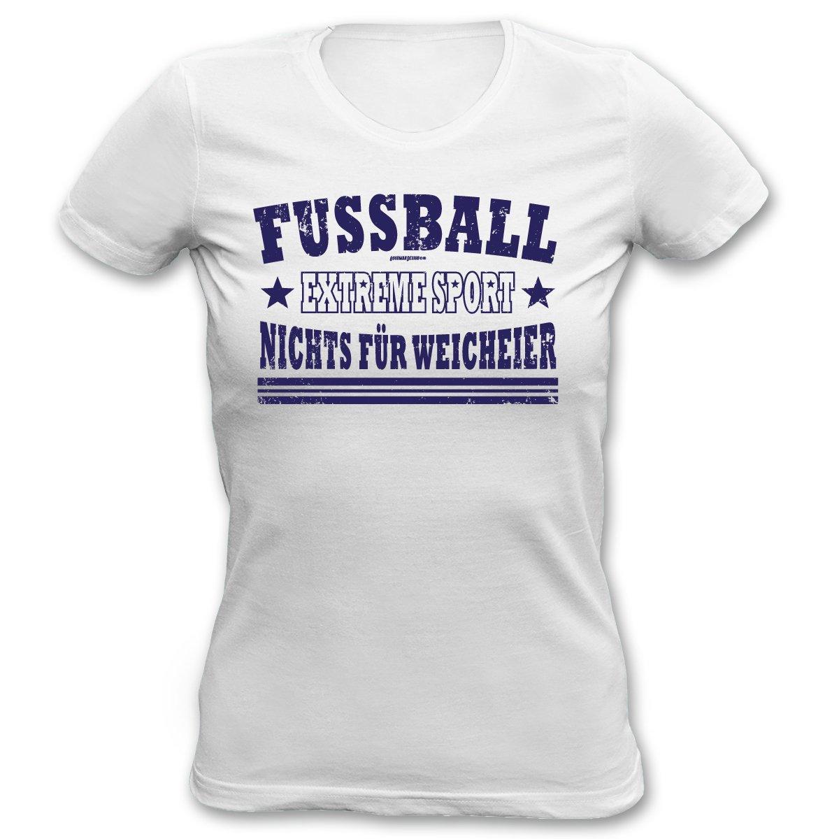 Cooles Fußball T-Shirt für Damen : Fussball / Fussball Extreme Sport - Goodman Design - Sportshirt Damen Farbe: weiss