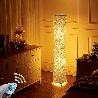 Lvyuan Lampadaire Design Moderne Lampe De Sol Abat Jour En Tissu