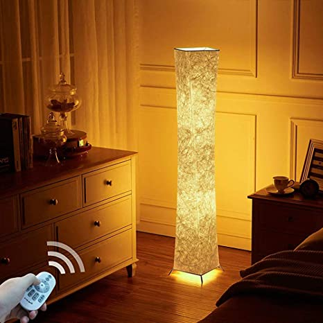 lvyuan Lámpara de Pie Moderna Bombilla LED RGB incluida para la Decoración de la Sala de Estar 26x26x132cm Europäischer Netzstecker (132 * 20CM+LED ...