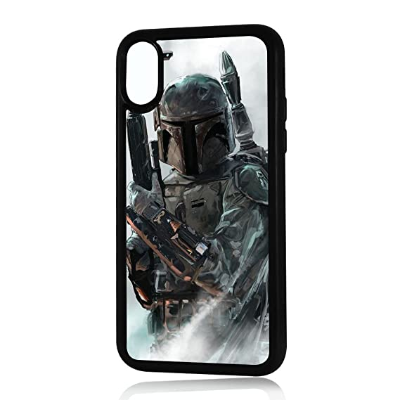 the best attitude 5ba79 4d041 (For iPhone X) Durable Protective Soft Back Case Phone Cover - HOT30031  Starwars Boba Fett