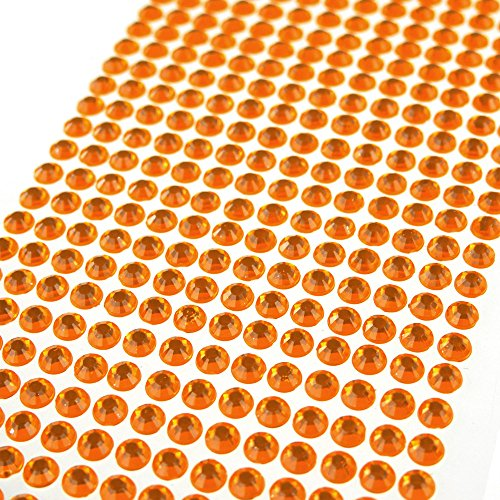 Rhinestone Orange (Homeford Firefly Imports Self Adhesive Rhinestone Circle, 6mm, 72-Pack, Orange)