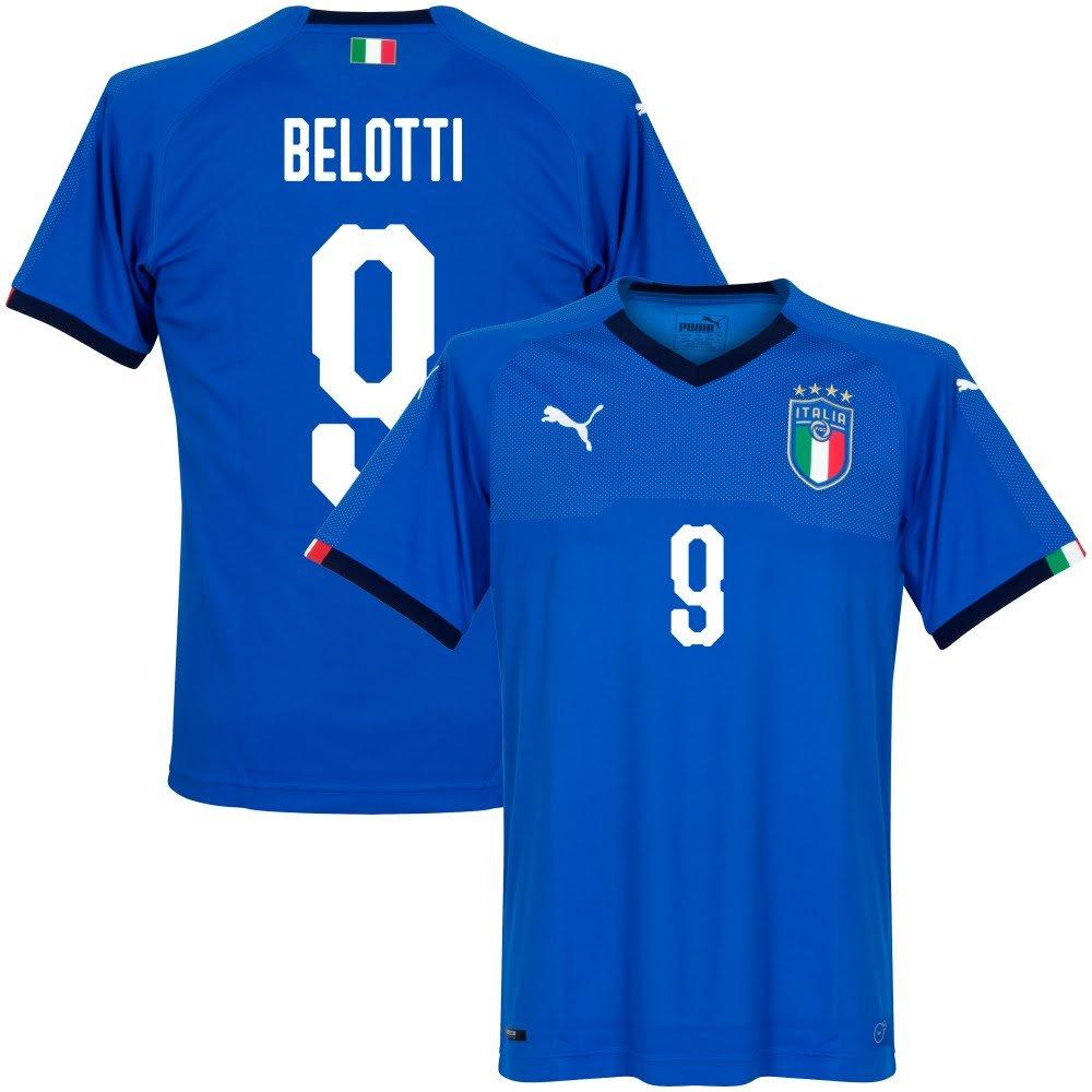 Italien Home Trikot 2018 2019 + Belotti 9 (Fan Style)