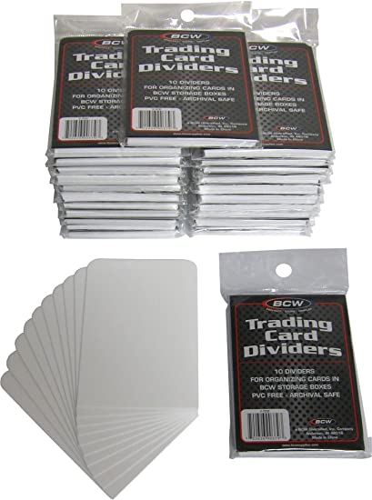 picture relating to Magic the Gathering Card Dividers Printable referred to as BCW Buying and selling Card Dividers - 10 Dividers for every Pack (Quany of 25 Packs, 250 Playing cards Amount of money)