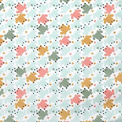 Bon Bon Unicorn 100/% Cotton Fabric Children Dressmaking Silver Grey