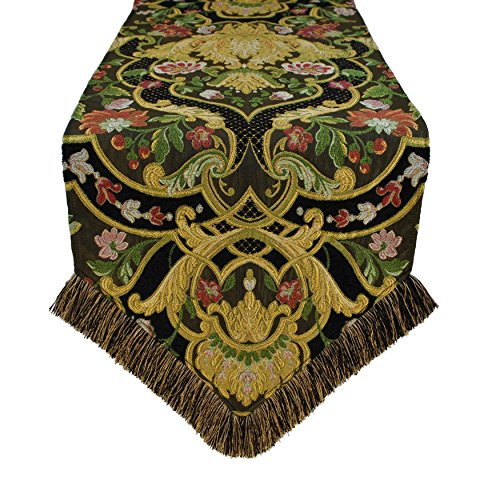 Austin Horn Classics Gustone Luxury Table Runner Design, Abstract, Graphic, Floral 13 x 108 by Austin Horn Classics