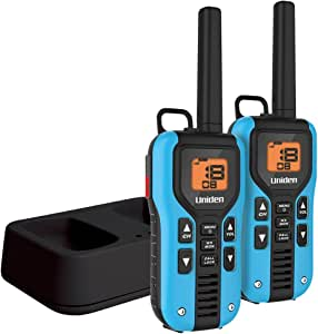 Uniden GMR4055-2CK Two-Way Radio with Charging Kit, Blue