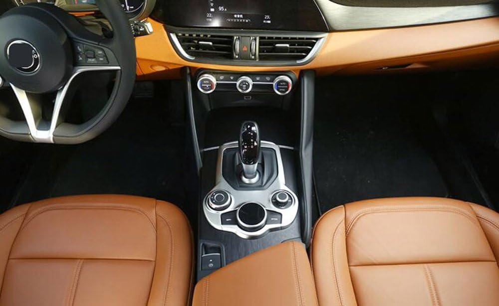 ABS cromado mate interior consola central panel de cambio de marchas de coche Auto accesorios