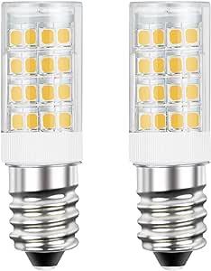 DiCUNO E14 LED Light Bulb 4W 40W Halogen Bulb Equivalent 220V Warm White 3000K 400 Lumen Non-dimmable 2-Pack